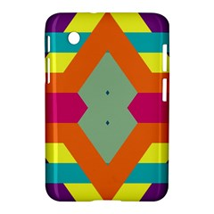 Colorful Rhombus And Stripes Samsung Galaxy Tab 2 (7 ) P3100 Hardshell Case  by LalyLauraFLM