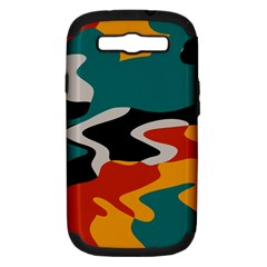 Misc Shapes In Retro Colors Samsung Galaxy S Iii Hardshell Case (pc+silicone) by LalyLauraFLM