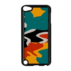 Misc Shapes In Retro Colors Apple Ipod Touch 5 Case (black) by LalyLauraFLM