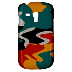 Misc Shapes In Retro Colors Samsung Galaxy S3 Mini I8190 Hardshell Case by LalyLauraFLM