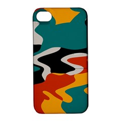 Misc Shapes In Retro Colors Apple Iphone 4/4s Hardshell Case With Stand by LalyLauraFLM