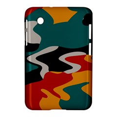 Misc Shapes In Retro Colors Samsung Galaxy Tab 2 (7 ) P3100 Hardshell Case  by LalyLauraFLM