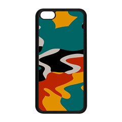 Misc Shapes In Retro Colors Apple Iphone 5c Seamless Case (black) by LalyLauraFLM