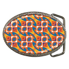 Squares And Other Shapes Pattern Belt Buckle by LalyLauraFLM