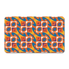 Squares And Other Shapes Pattern Magnet (rectangular) by LalyLauraFLM