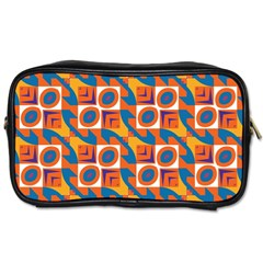 Squares And Other Shapes Pattern Toiletries Bag (one Side) by LalyLauraFLM