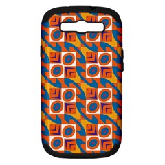 Squares And Other Shapes Pattern Samsung Galaxy S Iii Hardshell Case (pc+silicone) by LalyLauraFLM