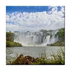 Waterfalls Landscape At Iguazu Park Tile Coasters by dflcprints