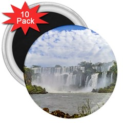Waterfalls Landscape At Iguazu Park 3  Magnets (10 Pack)  by dflcprints