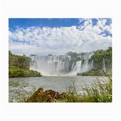 Waterfalls Landscape At Iguazu Park Small Glasses Cloth by dflcprints