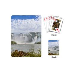 Waterfalls Landscape At Iguazu Park Playing Cards (mini)  by dflcprints