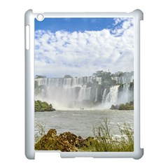 Waterfalls Landscape At Iguazu Park Apple Ipad 3/4 Case (white) by dflcprints