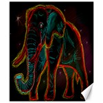 Psychedelic Elephant - Canvas 8  x 10