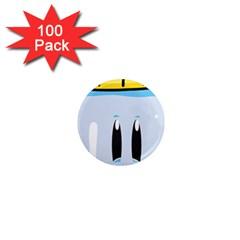 Purp Baby Bottle 1  Mini Magnets (100 pack)  by stoner