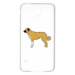 Anatolian Shepherd color silhouette Samsung Galaxy S5 Back Case (White) by TailWags