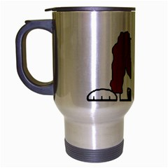 cavalier king charles spaniel Peeping  Travel Mug (Silver Gray) by TailWags
