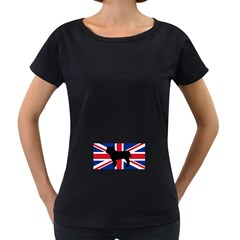 Bulldog Silhouette on flag Women s Loose-Fit T-Shirt (Black) by TailWags