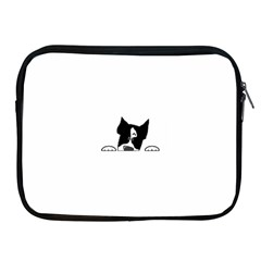 Peeping Boston Terrier Apple Ipad 2/3/4 Zipper Cases by TailWags