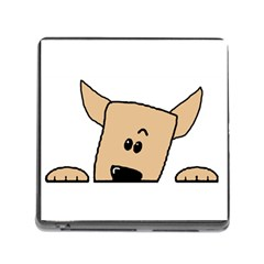 Peeping Chihuahua Memory Card Reader (Square) by TailWags