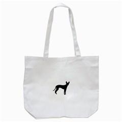 Cirneco Delletna Silhouette Tote Bag (White)