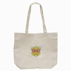 Angry Monster Portrait Drawing Tote Bag (cream)  by dflcprints