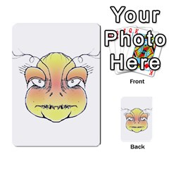 Angry Monster Portrait Drawing Multi Purpose Cards (rectangle)  by dflcprints