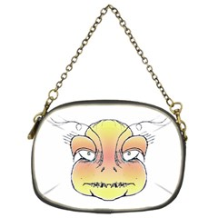 Angry Monster Portrait Drawing Chain Purses (two Sides)  by dflcprints