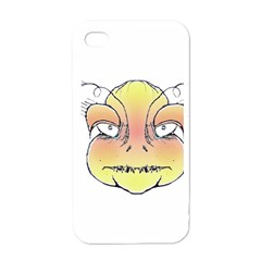 Angry Monster Portrait Drawing Apple Iphone 4 Case (white) by dflcprints