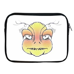 Angry Monster Portrait Drawing Apple Ipad 2/3/4 Zipper Cases by dflcprints