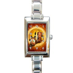 I m Waiting For You, Cute Giraffe Rectangle Italian Charm Watches by FantasyWorld7