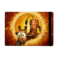 I m Waiting For You, Cute Giraffe Apple Ipad Mini Flip Case by FantasyWorld7