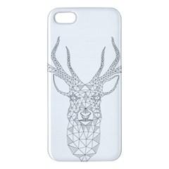 Modern Geometric Christmas Deer Illustration Apple Iphone 5 Premium Hardshell Case by Dushan