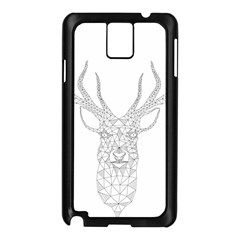 Modern Geometric Christmas Deer Illustration Samsung Galaxy Note 3 N9005 Case (black) by Dushan