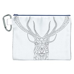 Modern Geometric Christmas Deer Illustration Canvas Cosmetic Bag (xxl)  by Dushan