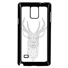 Modern Geometric Christmas Deer Illustration Samsung Galaxy Note 4 Case (black) by Dushan