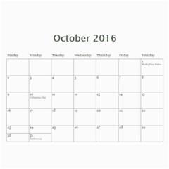 Bubba s Bait Truck 2016 By J  Richardson   Wall Calendar 11  X 8 5  (12 Months)   A0ct9upfzune   Www Artscow Com Oct 2016