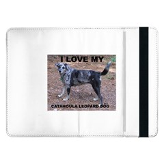 Catahoula Love With Picture Samsung Galaxy Tab Pro 12.2  Flip Case by TailWags