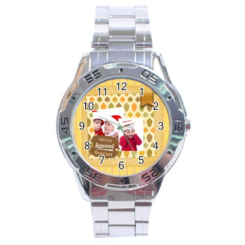 Xmas By Joy   Stainless Steel Analogue Watch   T5u7h0a04va8   Www Artscow Com Front