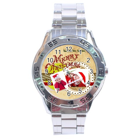 Xmas By Joy   Stainless Steel Analogue Watch   Klvg4uu15u7c   Www Artscow Com Front