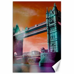 London Tower Bridge, Bokeh Orange Canvas 20  X 30   by MoreColorsinLife