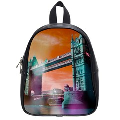 London Tower Bridge, Bokeh Orange School Bags (small)  by MoreColorsinLife