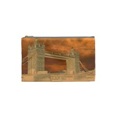 London Tower Bridge Special Effect Cosmetic Bag (small)  by MoreColorsinLife