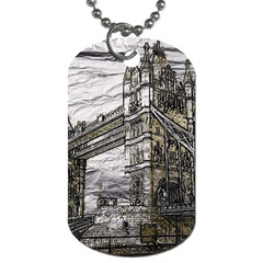 Metal Art London Tower Bridge Dog Tag (two Sides) by MoreColorsinLife