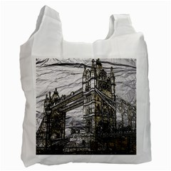 Metal Art London Tower Bridge Recycle Bag (two Side)  by MoreColorsinLife