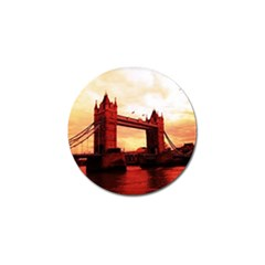 London Tower Bridge Red Golf Ball Marker (10 Pack) by MoreColorsinLife