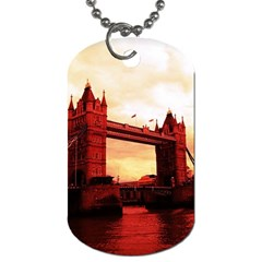 London Tower Bridge Red Dog Tag (two Sides) by MoreColorsinLife