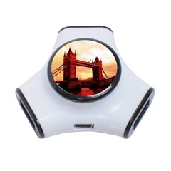 London Tower Bridge Red 3-Port USB Hub by MoreColorsinLife
