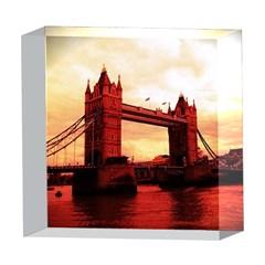 London Tower Bridge Red 5  x 5  Acrylic Photo Blocks