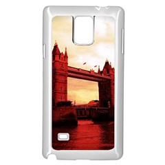 London Tower Bridge Red Samsung Galaxy Note 4 Case (white) by MoreColorsinLife