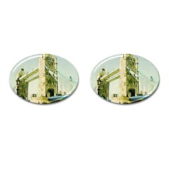 Watercolors, London Tower Bridge Cufflinks (oval) by MoreColorsinLife